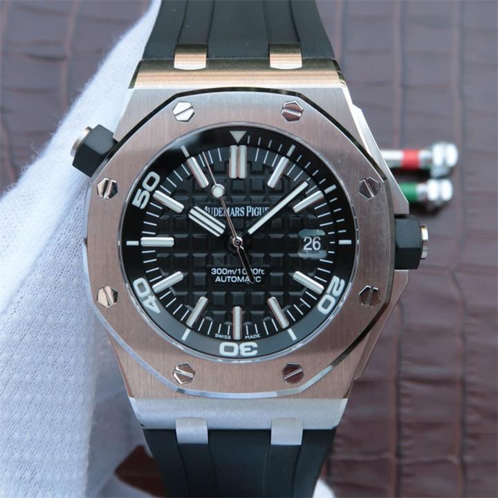 【JF厂超A】爱彼AP皇家橡树系列离岸型15703一比一复刻手表【胶带/密底】
