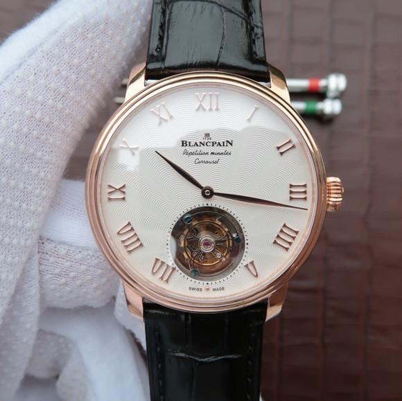 宝珀Blancpain布拉苏斯系列男士自动上链真陀飞轮精仿手表