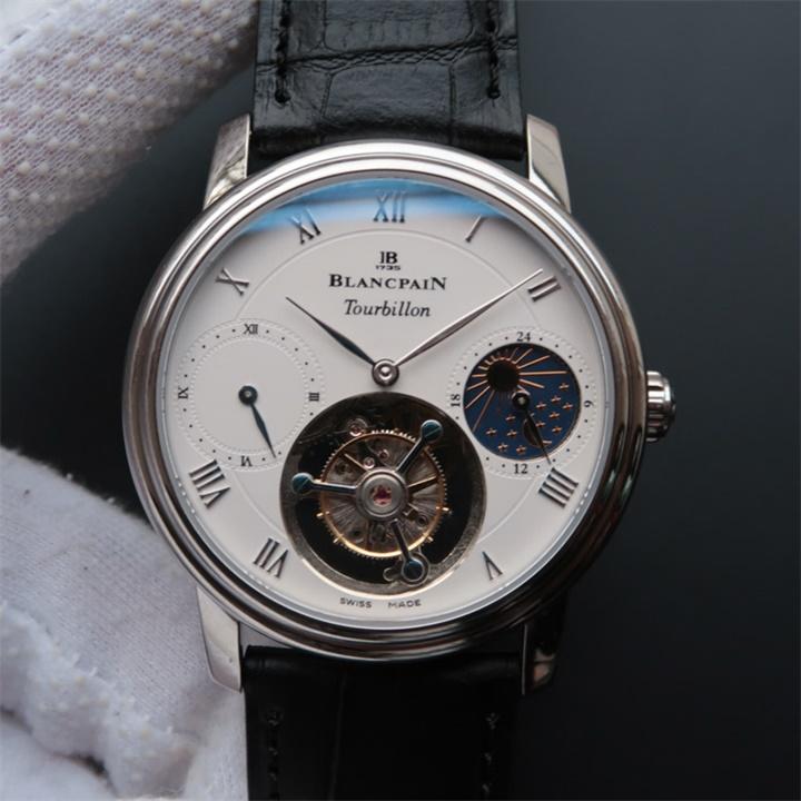 宝珀Blancpain月相真陀飞轮男士手动上链精仿手表