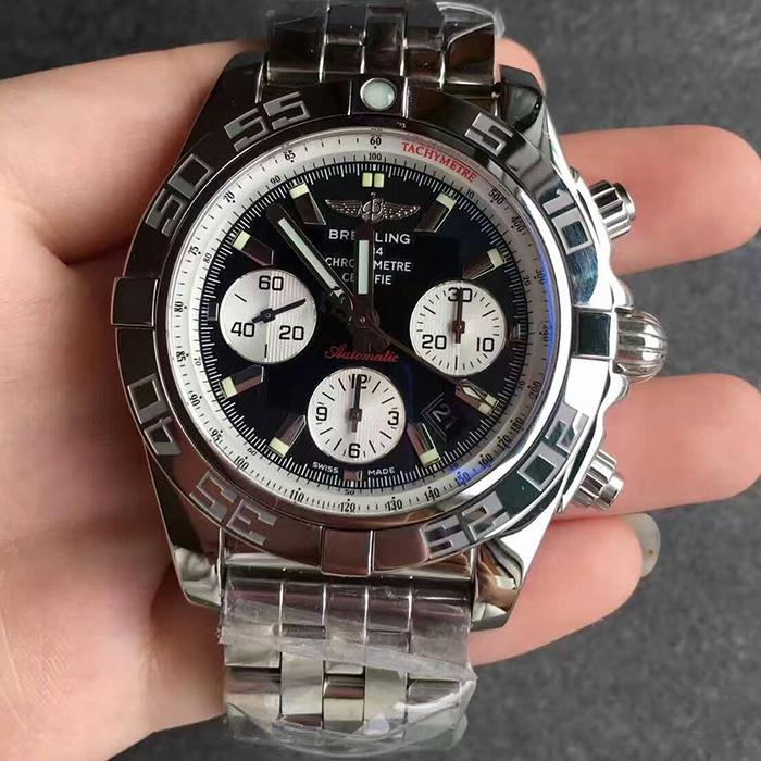 【JF厂超A】百年灵(Breitling)机械计时系列终极计时腕表黑面钢带自动机械一比一男表