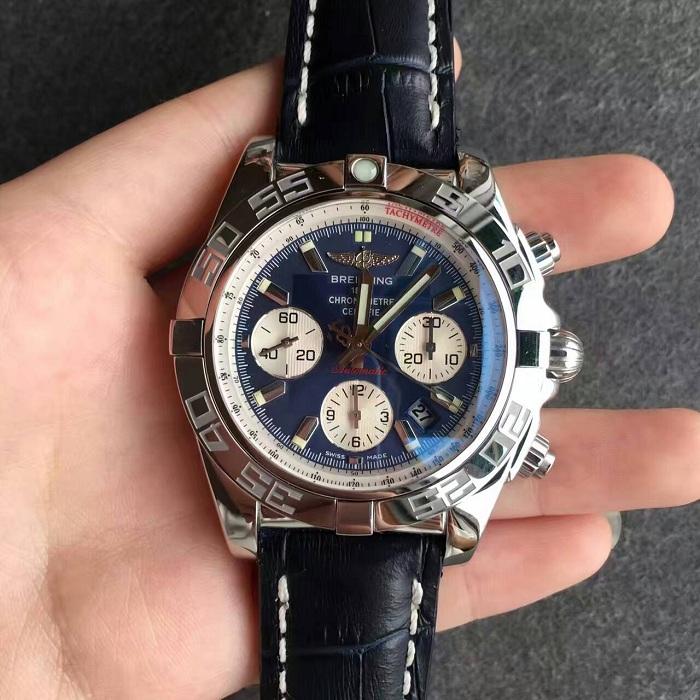 【JF厂超A】百年灵(Breitling)机械计时系列终极计时腕表蓝面皮带自动机械一比一男表