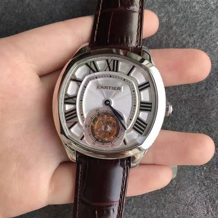 卡地亚(Cartier)Drive系列手动陀飞轮一比一精仿手表