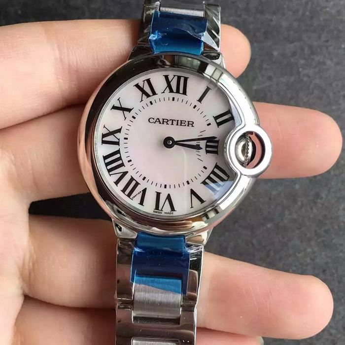 【V6厂超A】卡地亚(Cartier)蓝气球33毫米石英版贝母面一比一精仿女表