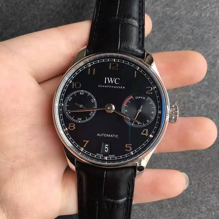 【ZF厂超A】万国(IWC)葡萄牙系列七日链黑面IW500703一比一精仿手表