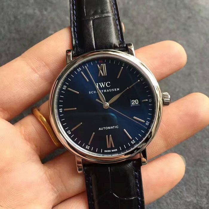 【MK厂V4版超A】万国(IWC)柏涛菲诺系列蓝面白丁IW356512一比一精仿手表