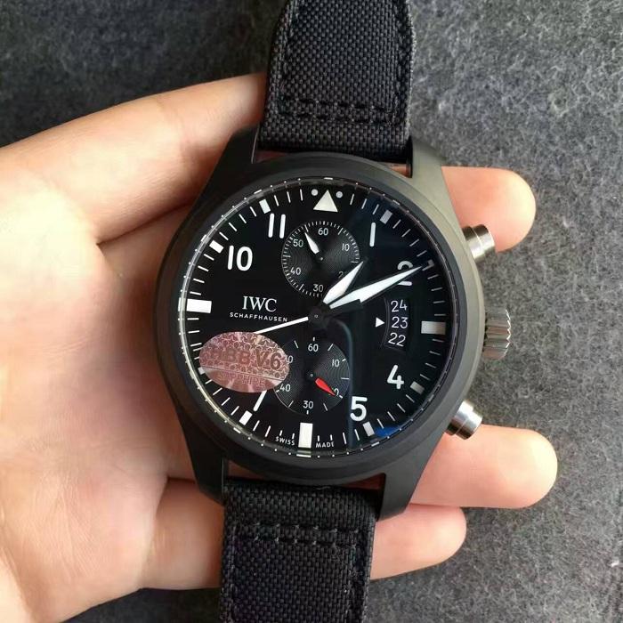 【V6厂超A】万国(IWC)飞行员系列TOP GUN陶瓷壳IW388007男士自动机械一比一精仿手表