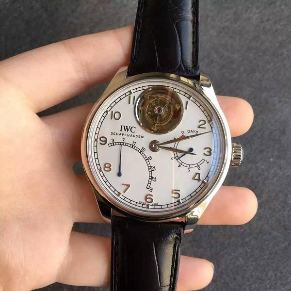 【TF厂】万国(IWC)葡萄牙系列自动陀飞轮白面一比一精仿手表(动能显示/日历飞返)