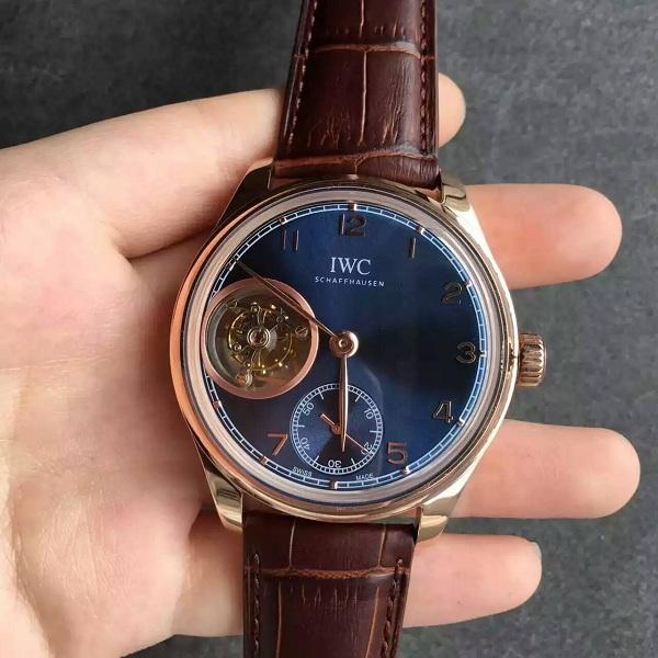 【TF厂】万国(IWC)葡萄牙系列陀飞轮蓝色面金壳一比一精仿手表