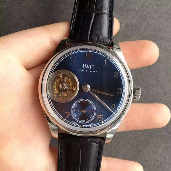 【TF厂】万国(IWC)葡萄牙系列陀飞轮蓝色面一比一精仿手表
