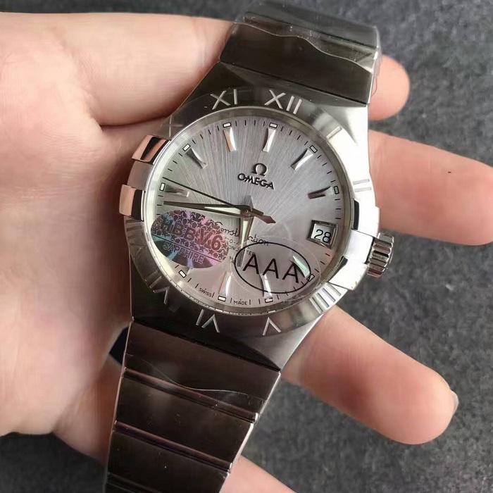 【V6厂】欧米茄Omega星座系列男款银面条丁自动机械一比一精仿手表