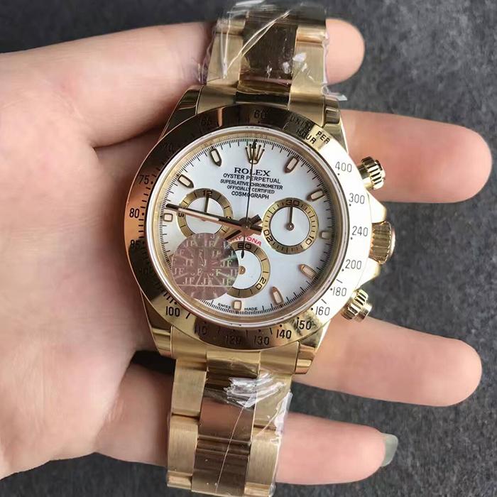 【JF厂最好版本】劳力士(Rolex)迪通全金白面116508自动机械精仿男表