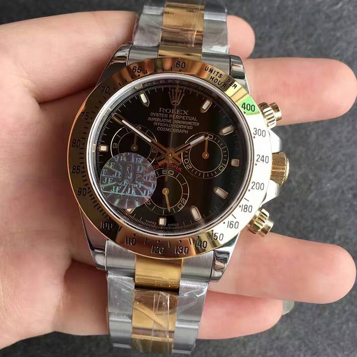 【JF厂最好版本】劳力士(Rolex)迪通拿间金黑面116503自动机械一比一精仿男表