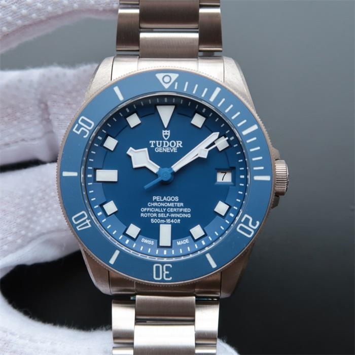 帝舵(Tudor)/帝陀/帝驼V6版PELAGOS系列25600TB蓝色战斧男士自动机械精仿手表