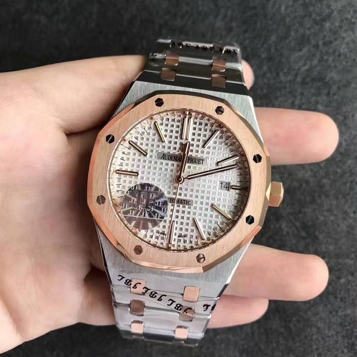 【JF厂】爱彼AP皇家橡树系列15400间金银白面钢带版精仿手表